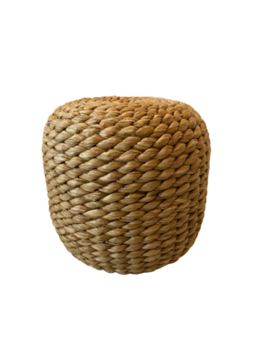 Vintage Braided Seagrass Stool