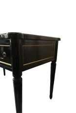 Vintage Black Lacquer & Leather Desk