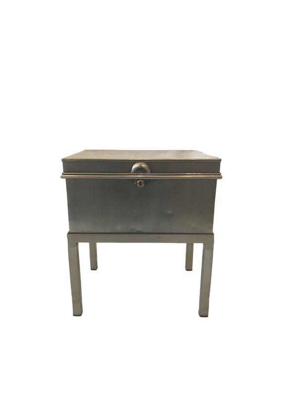 Vintage Industrial Box Side Table
