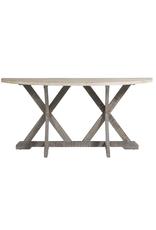 Oak Demilune Console Table