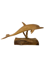 Vintage Carved Wood Dolphin