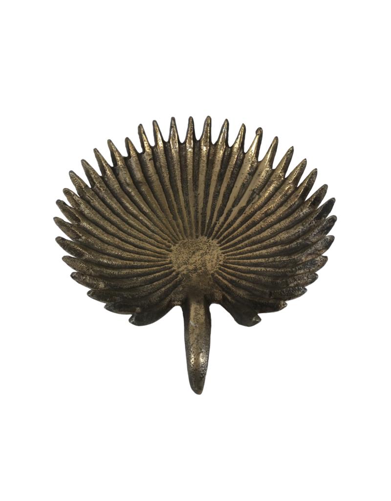 Large Metal Palm Dish