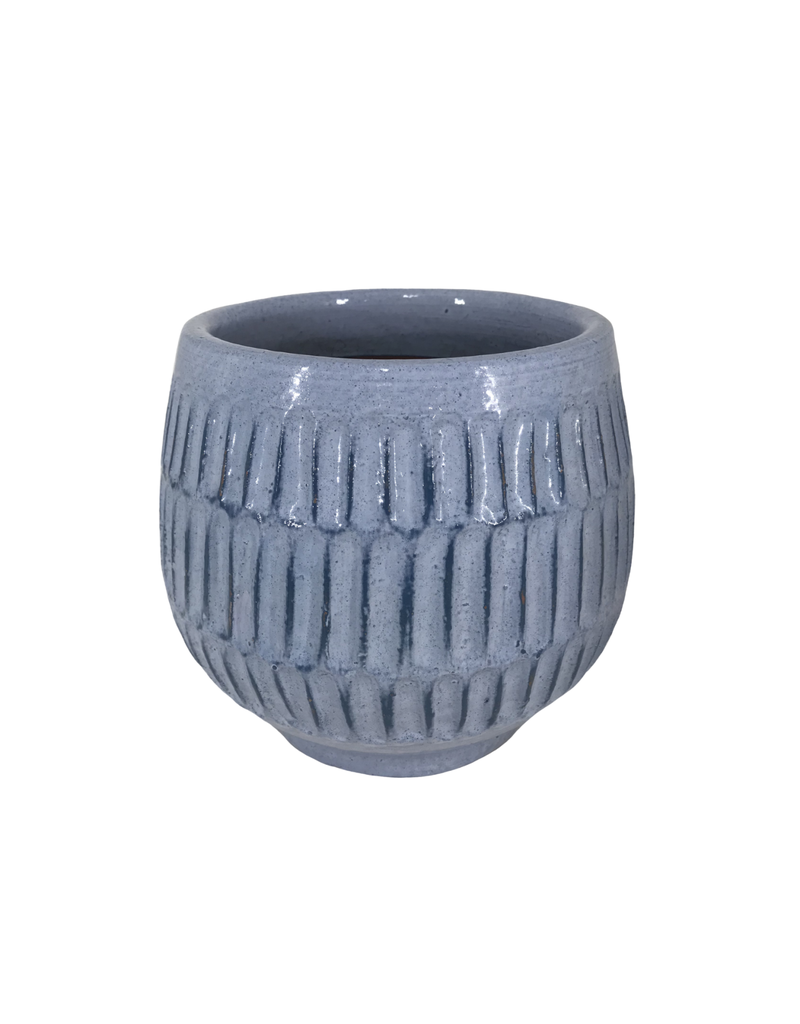 Light Blue Ceramic Planter