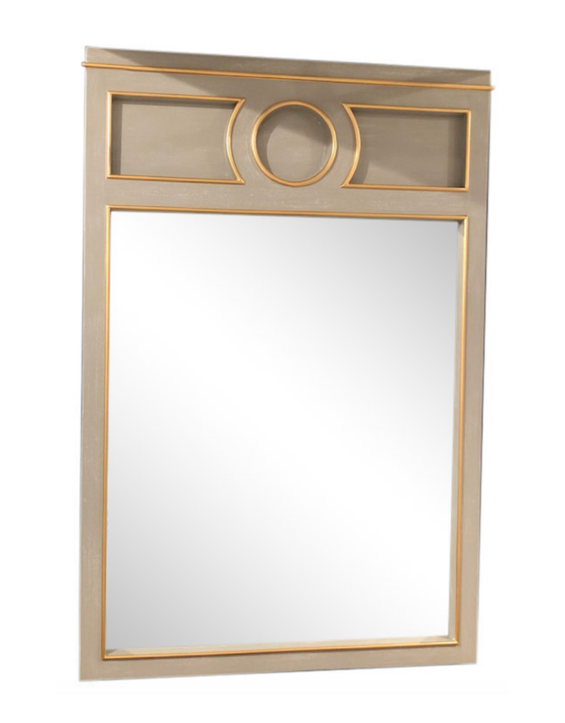 Grey & Gold Wood Mirror