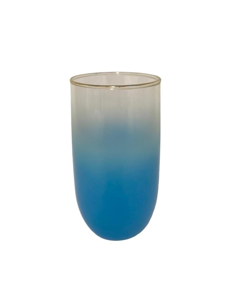 Vintage Set of 6 Blue Ombre Glasses