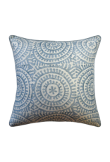 Light Blue Disk Pillow