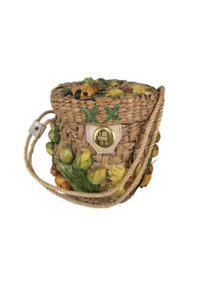 Vintage Straw Bumblebee Handbag