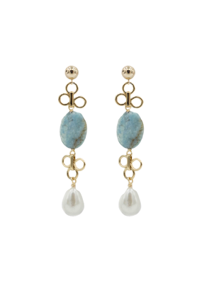 Turquoise & Mother of Pearl Earrings