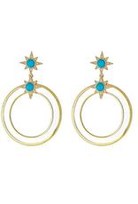 Lucite Ring Hoop Earring