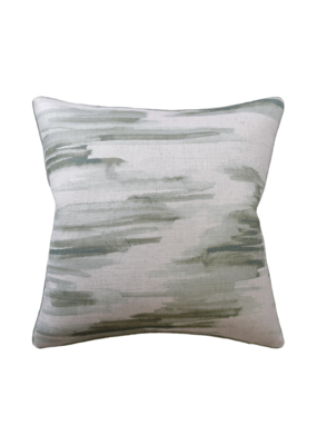 Green Watercolor Abstract Pillow
