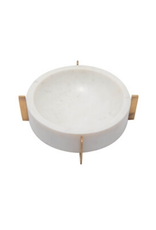 Marble Bowl with Gold Stand