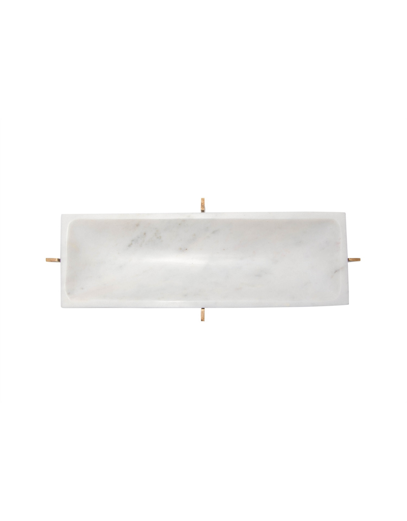 Marble Tray with Gold Stand