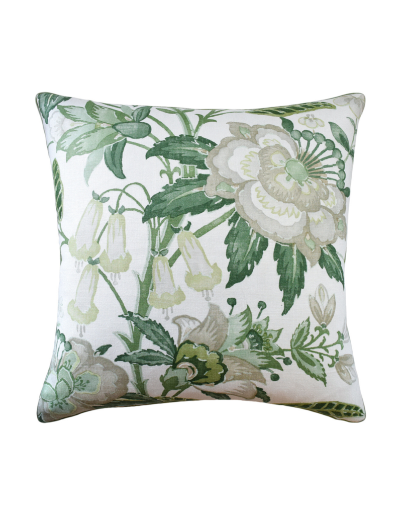 Green Floral Pillow