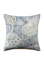 Light Blue Floral Pillow