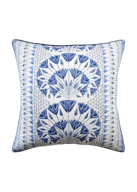 Navy Fan Pillow