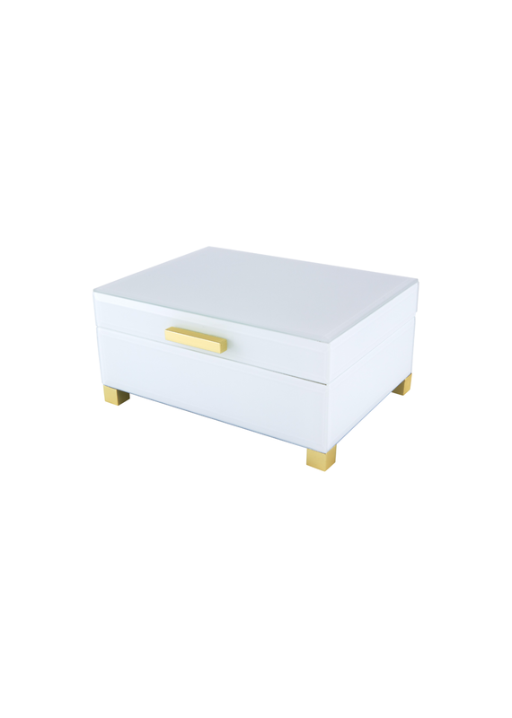 Sage Box with Gold Feet