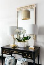 Vintage Ivory & Brass Mirror