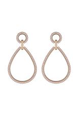 Gold Pearl Teardrop Earring