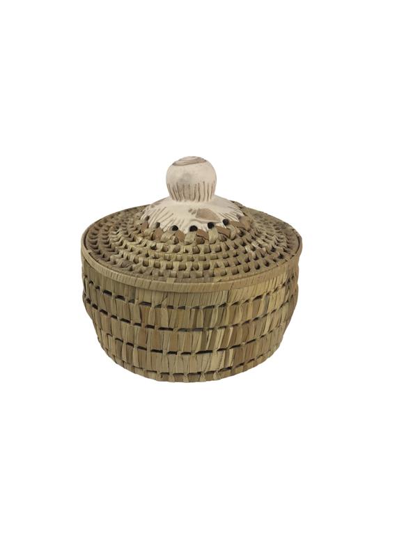 Vintage Large Mixed Media Basket