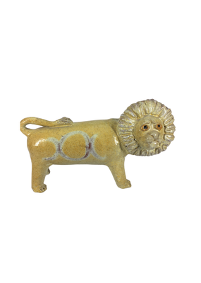 Vintage Ceramic Yellow Lion