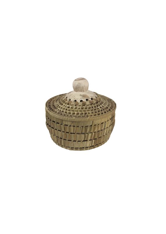 Vintage Small Mixed Media Basket