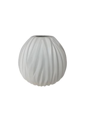 White Porcelain Pleated Vase