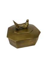Vintage Brass Box with Bird Finial