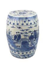 Blue & White Ceramic Garden Stool