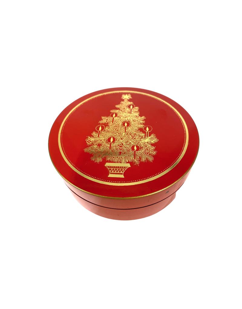 Vintage Christmas Tree Coasters in Box