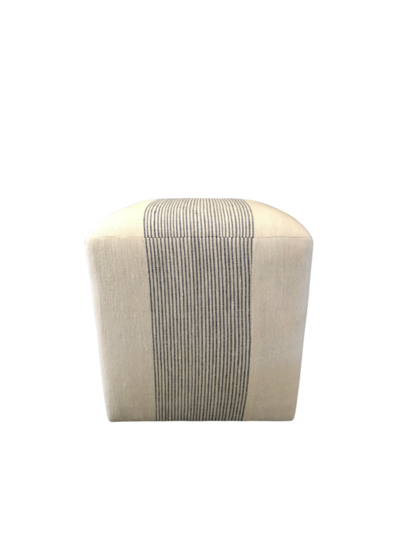 Navy & White Pinstripe Cube