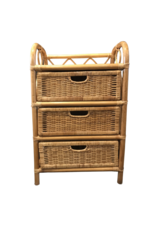 Vintage Rattan Storage Chest