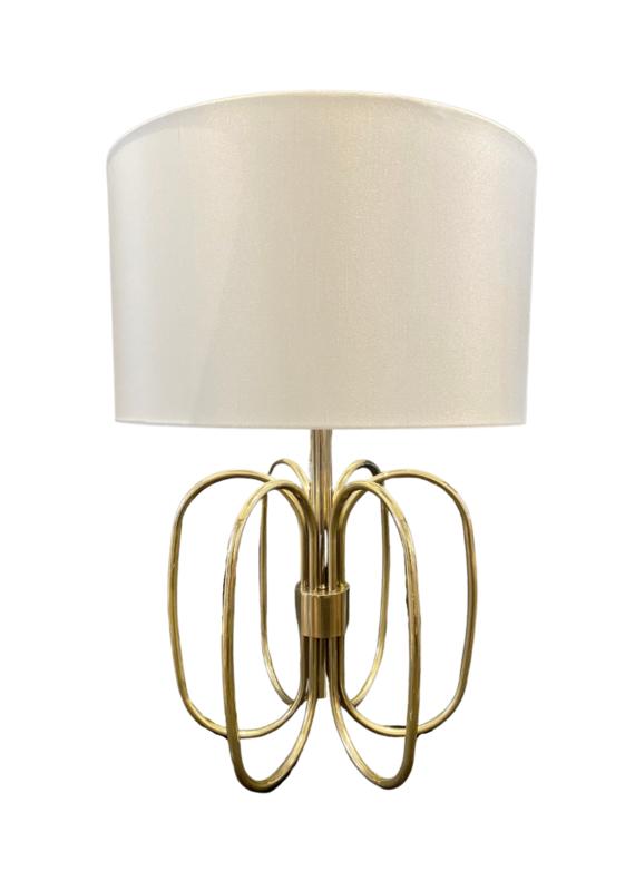 Vintage Mid-Century Brass Loop Lamp