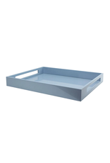 Lacquered Pale Blue Serving Tray
