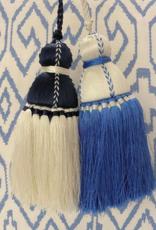 French Blue & White Tassel