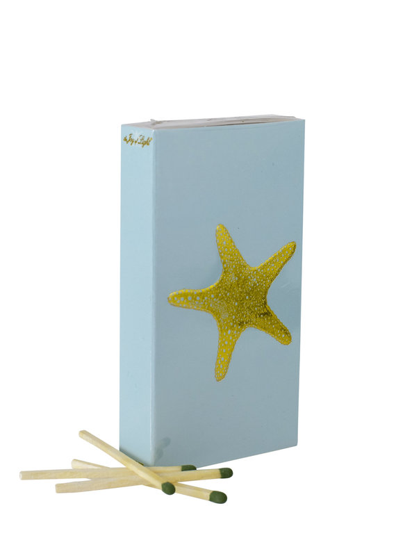 Blue & Gold Starfish Boxed Matches