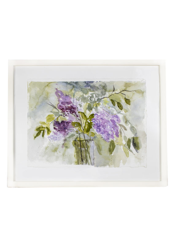 Vintage Lilac Watercolor
