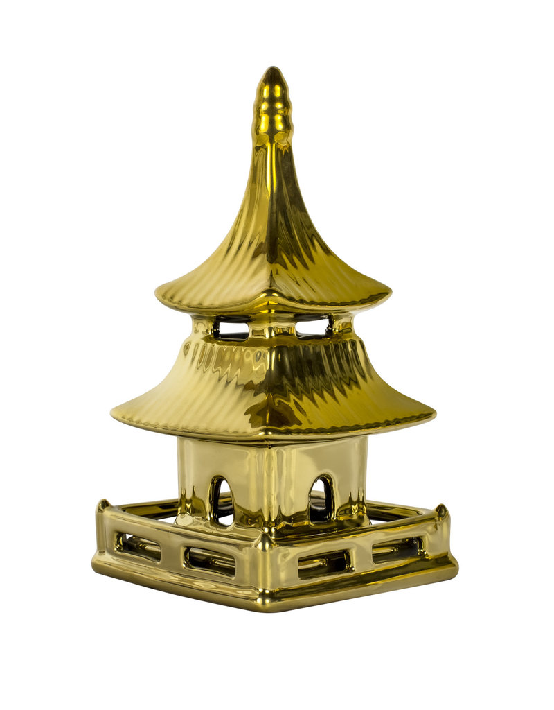 Gold Ceramic Pagoda