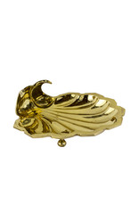 Vintage Brass Shell Footed Dish