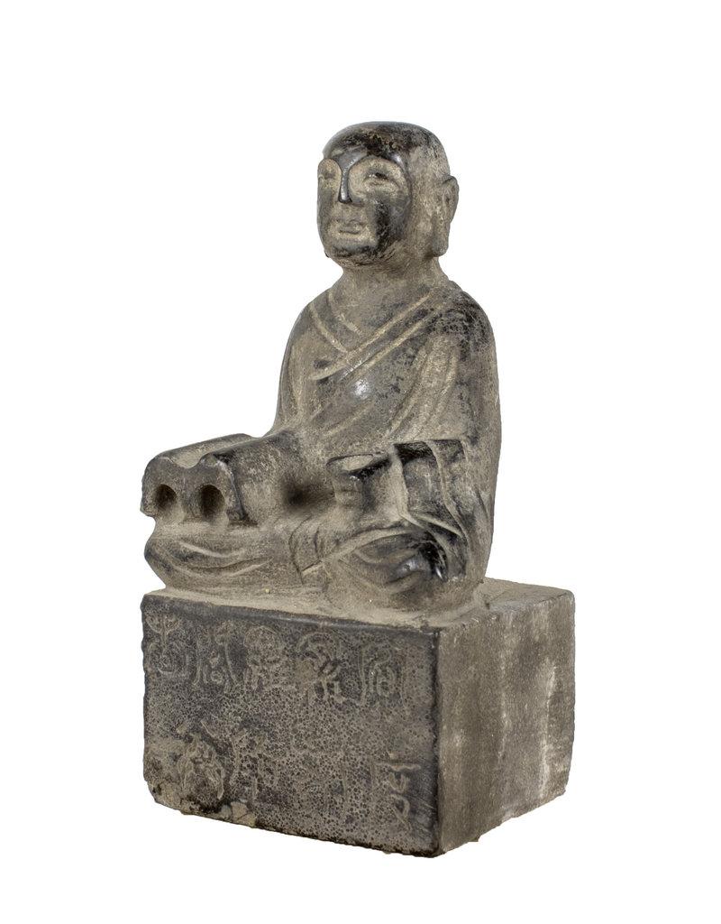 Stone Buddha on Pedastal
