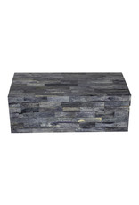 Grey Bone Tile Box