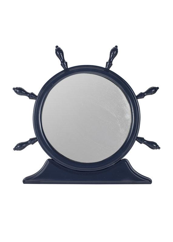 Vintage Ships Wheel Mirror