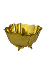 Vintage Footed Brass Square Dish