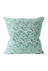 Floral Vine Batik Green Pillow