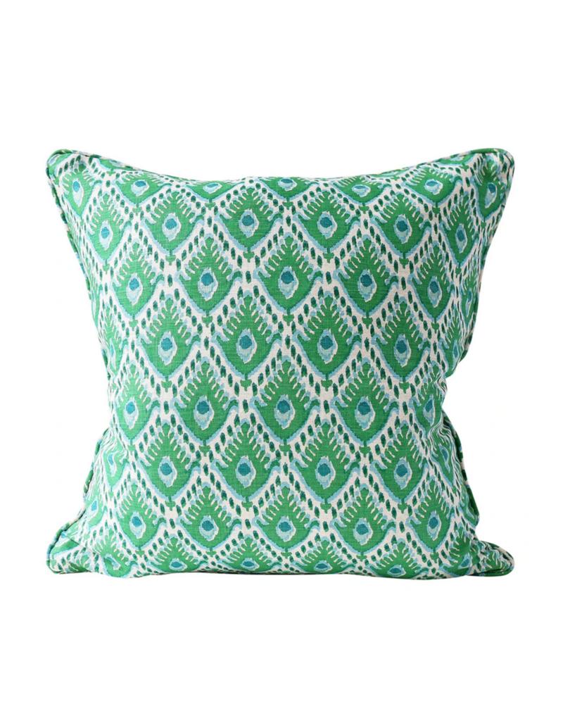 Blue & Green Ikat Pillow