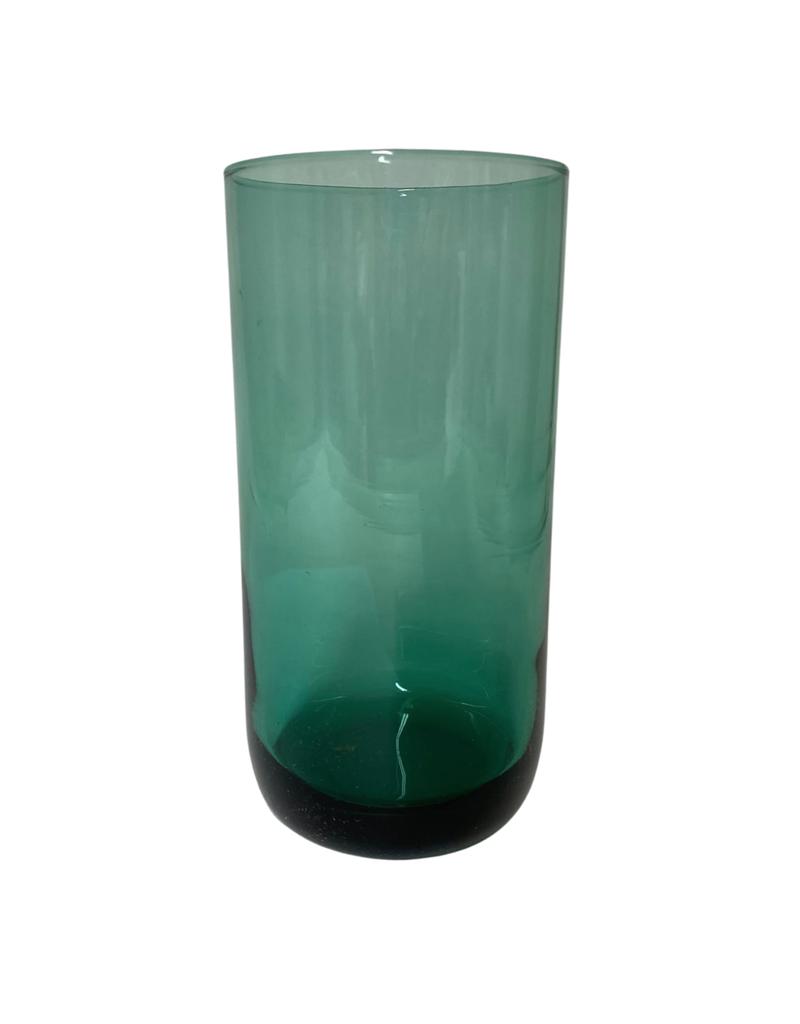 Vintage Set of 6 Green Highball Glasses