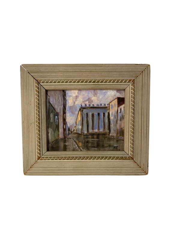 Vintage Petite Column Painting