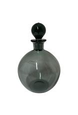 Vintage Grey Glass Decanter