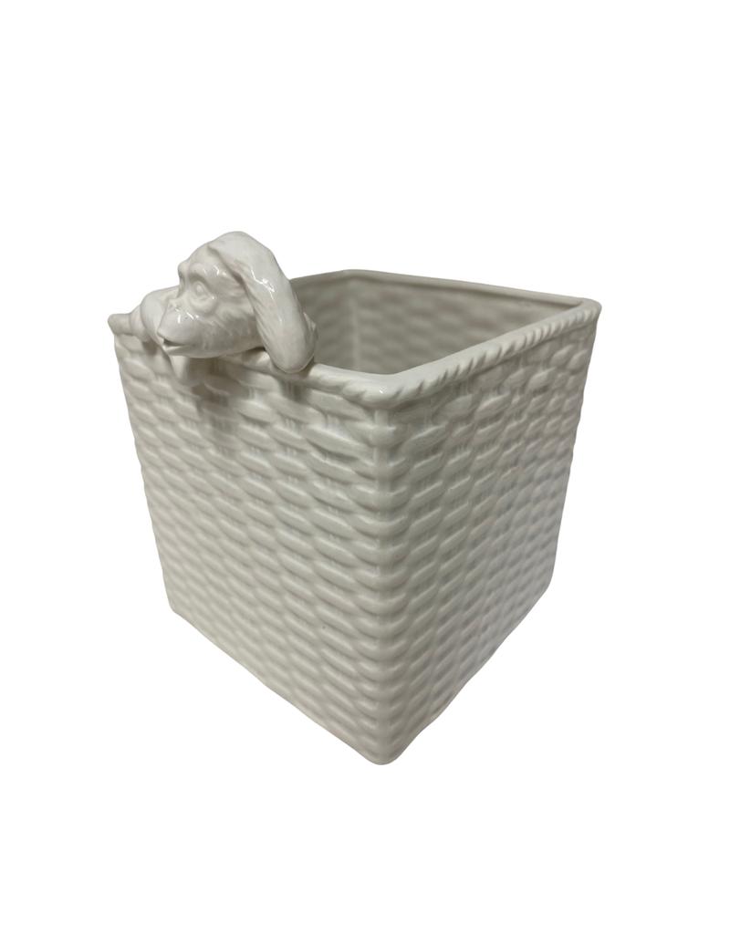 Vintage Ceramic Monkey Planter