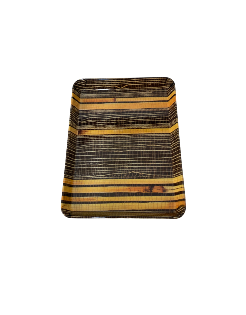 Vintage Small Bamboo Stripe Tray