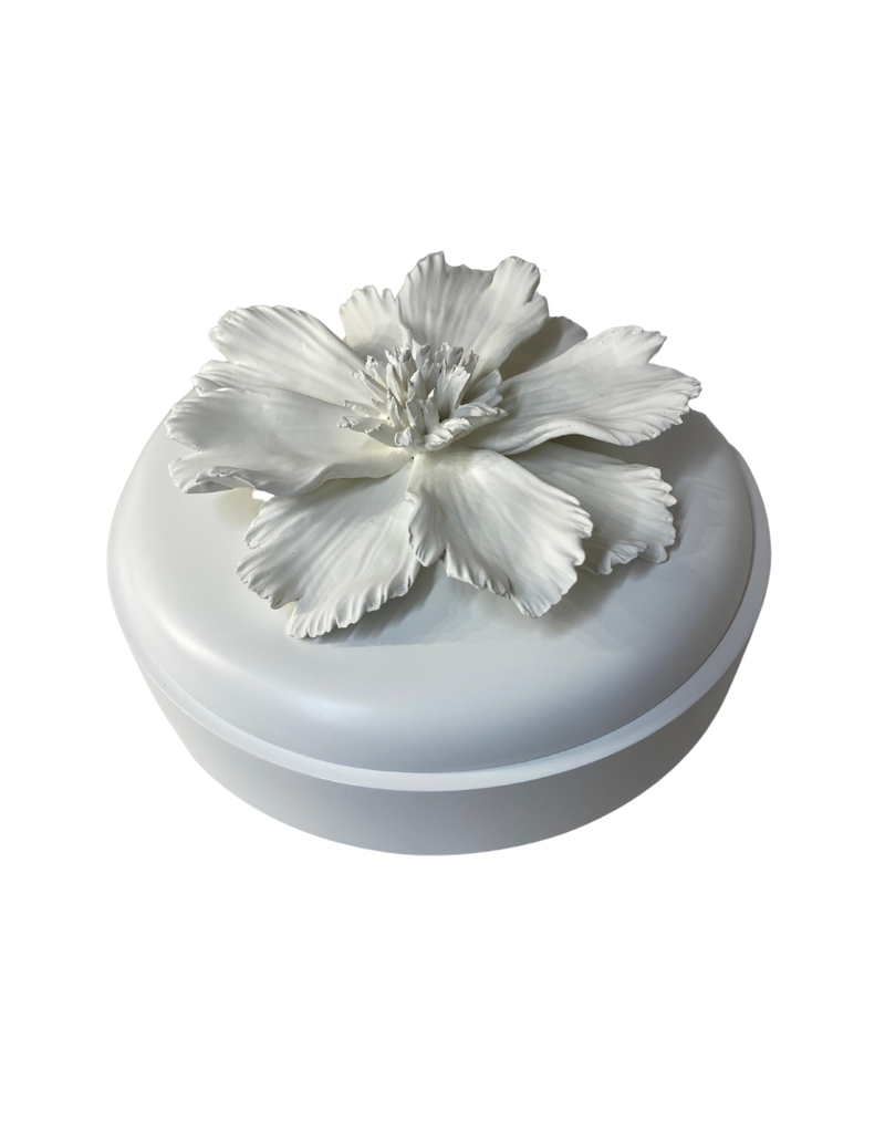 Round Lidded Floral Box